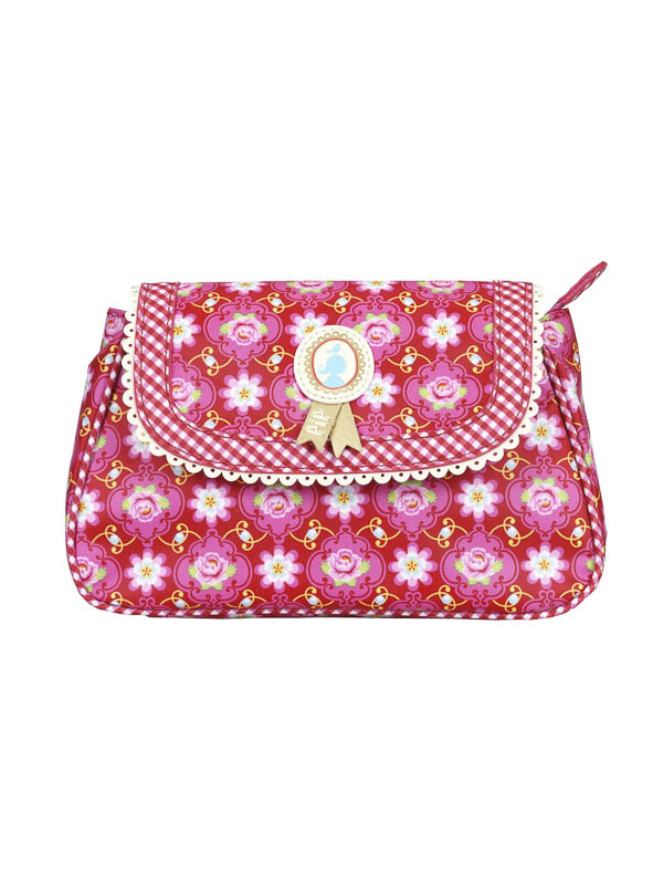 Cosmeticbag+flap S Rood