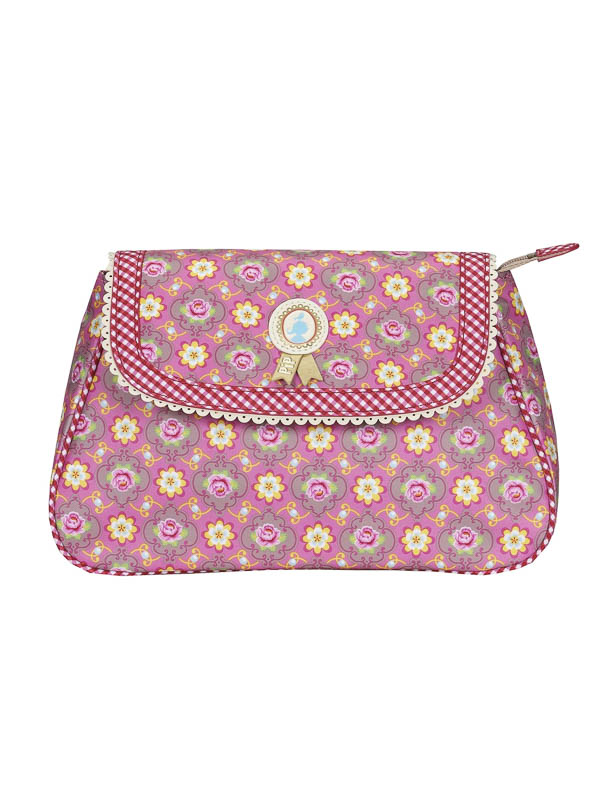 Cosmeticbag+flap M Pink