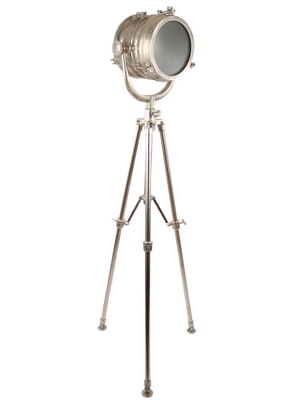 Vloerlamp Studio ruw nickel