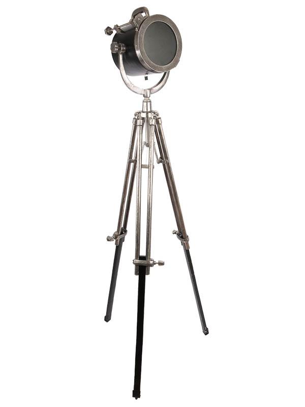 Vloerlamp Tomba, zwart, ruw nickel