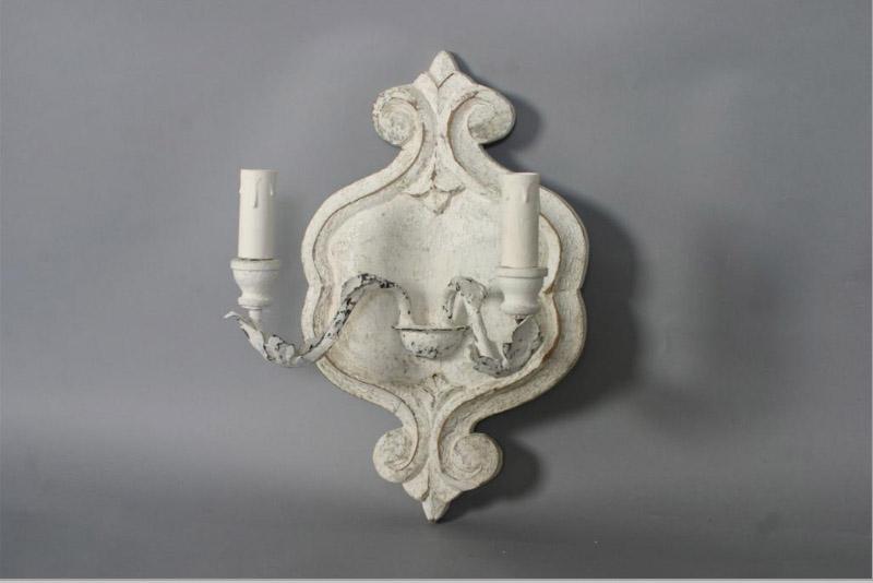 Wandlamp Rolande - Old white