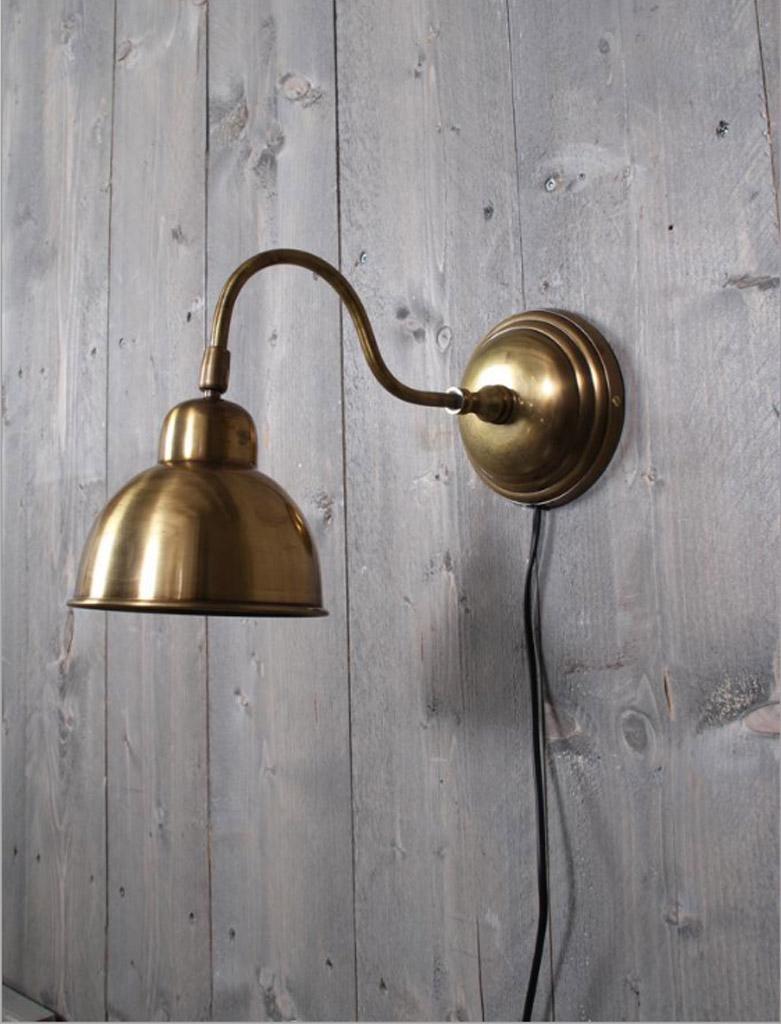 Wand leeslamp Giens M - brons antiek