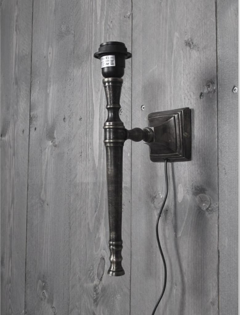 Wandlamp Calais - tin antiek