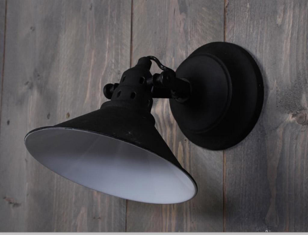 Wandlamp Viella - Zwart Antiek