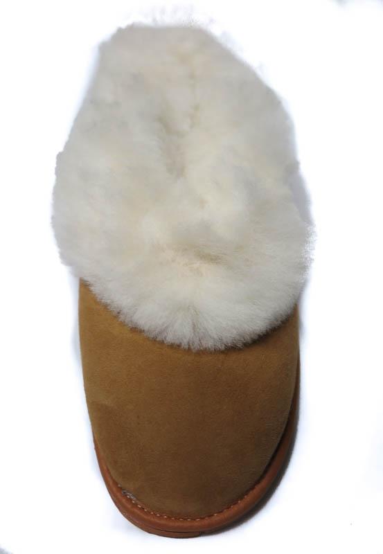 Pantoffel wit bontje