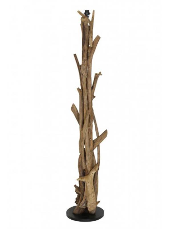 Vloerlamp Vidin hout