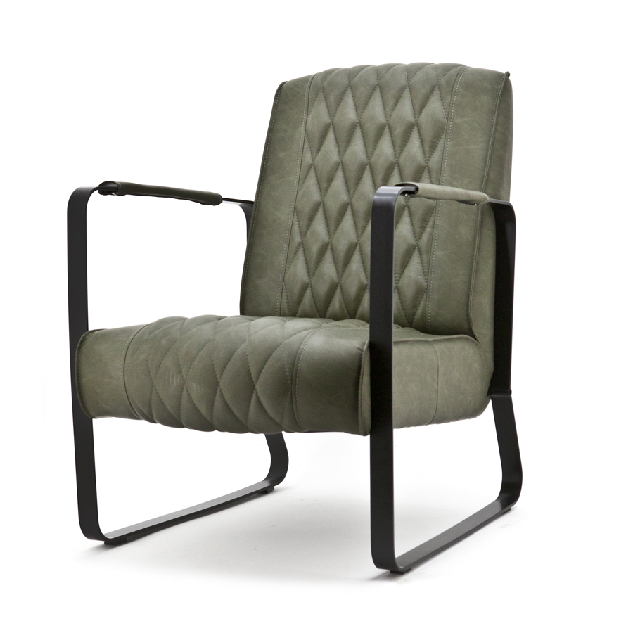 Fauteuil Caro - Groen Vintage