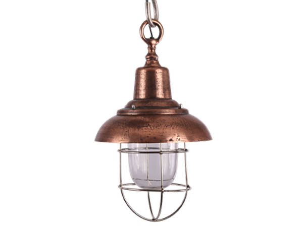 Hanglamp Girona koper+ruw nickel - klein
