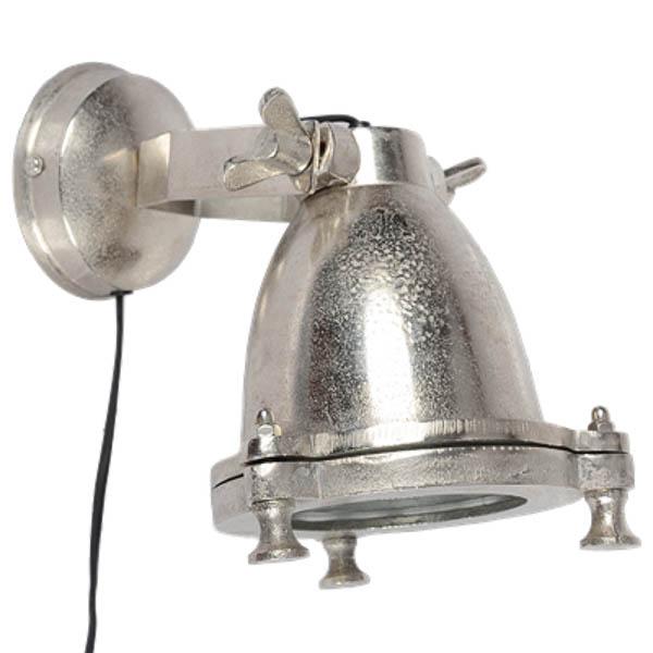 Wandlamp Emporio ruw nickel