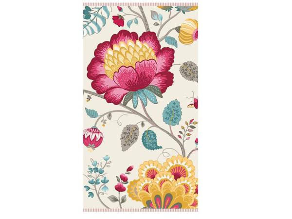Handdoek Floral Fantasy star white