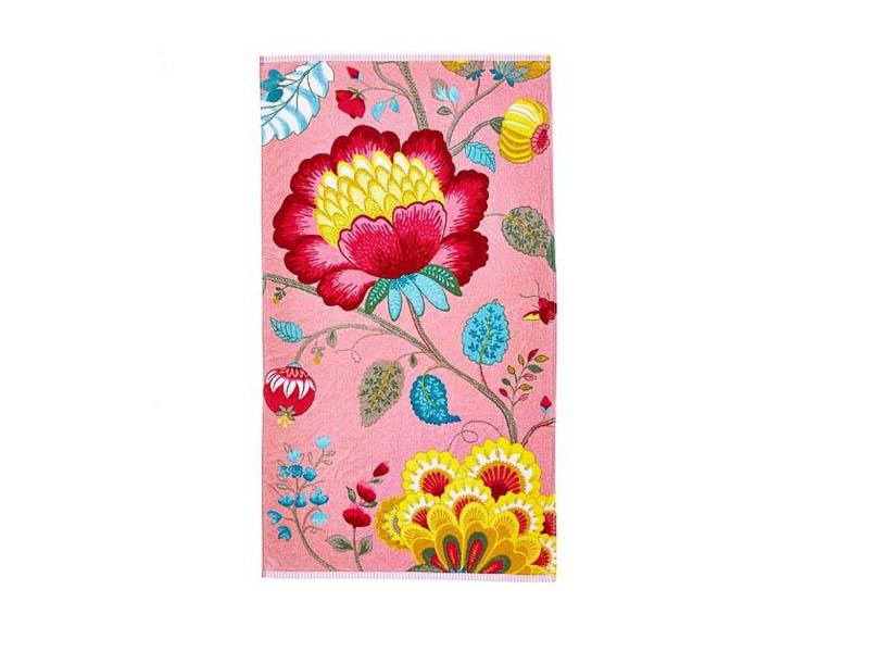 Badhanddoek Floral Fantasy pink