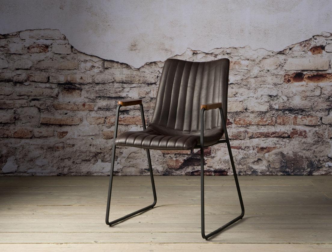Salou armchair - PU dark brown