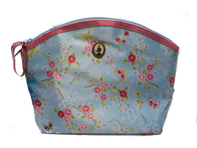 Cosmeticbag L Chinese Rose Blue