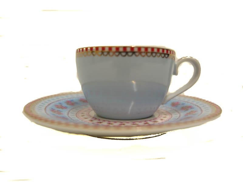 Espresso kop & schotel Streep Blue