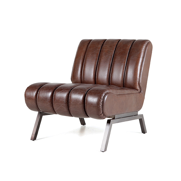 Fauteuil Shevy - donkerbruin java leer