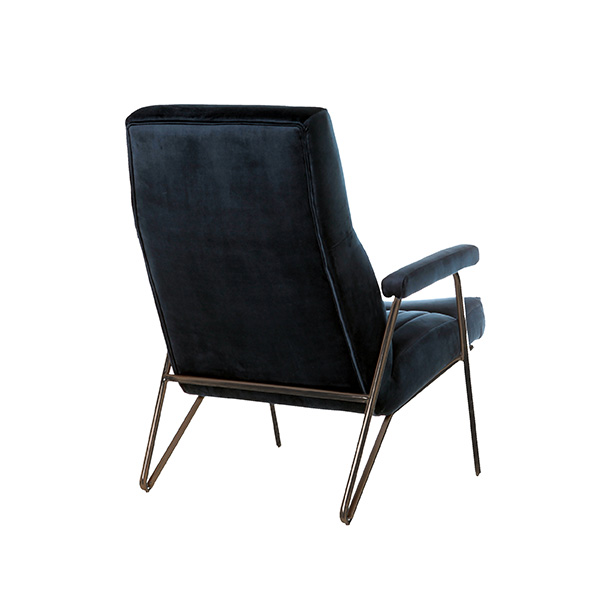 Fauteuil William - blauw velvet