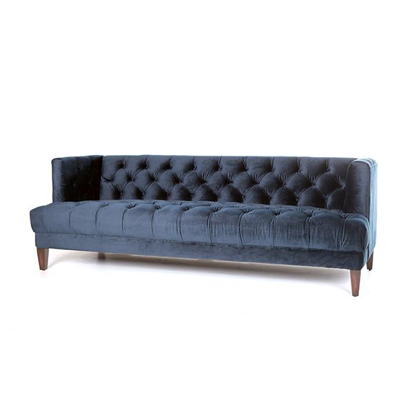 Bank Vogue - blauw velvet
