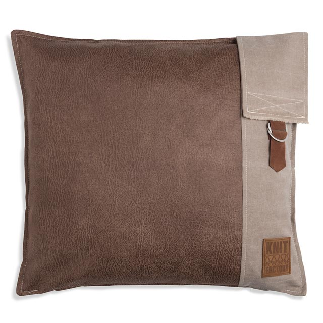 Luc kussen 50x50 taupe