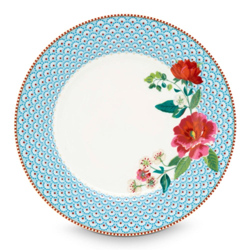 PiP Dinerbord 26,5 cm bloem blue