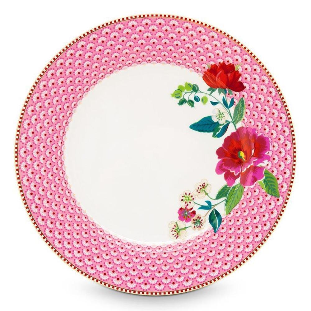 PiP Dinerbord 26,5 cm bloem pink