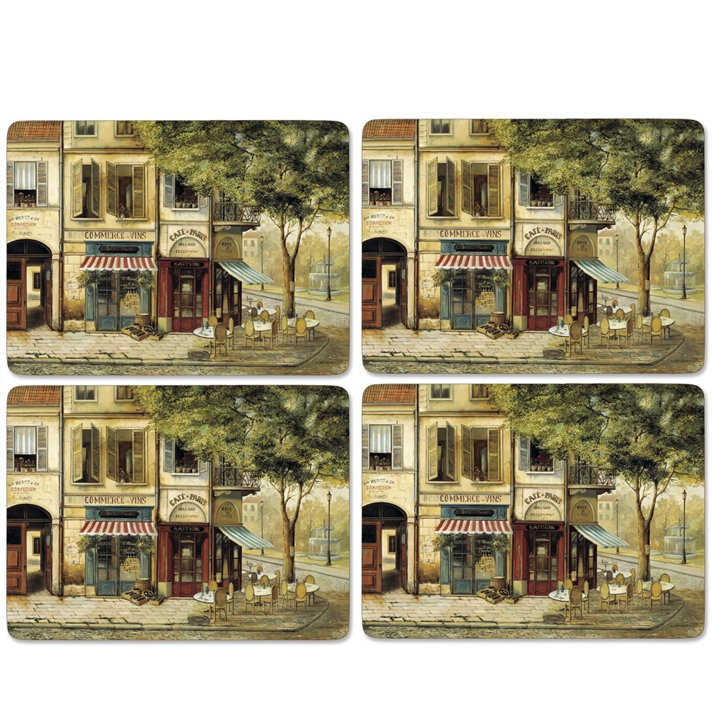 Placemat Parisian scenes, set van 4