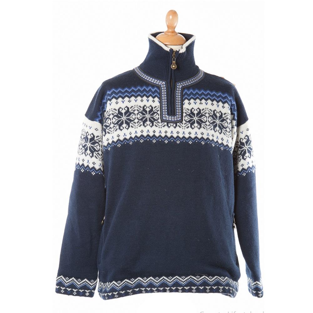 Pullover Torino met windbreaker blauw