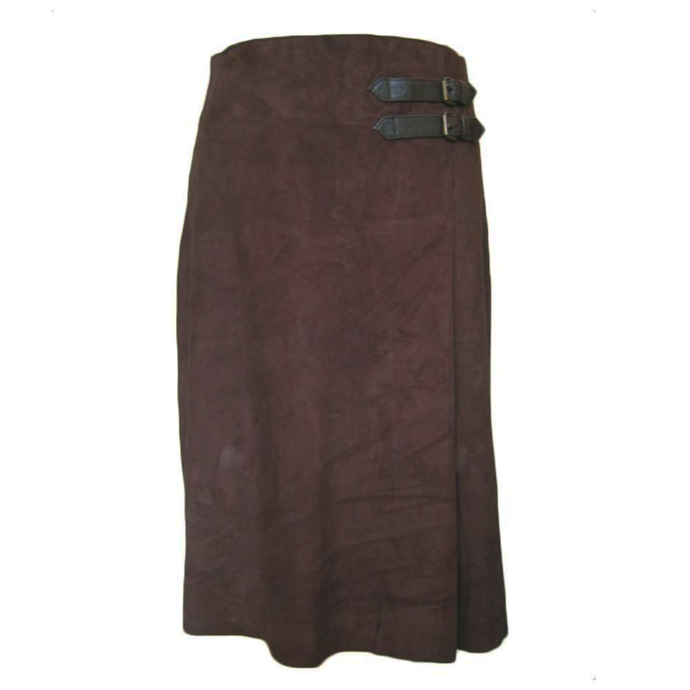 Rok Pleat Skirt Buckle brown