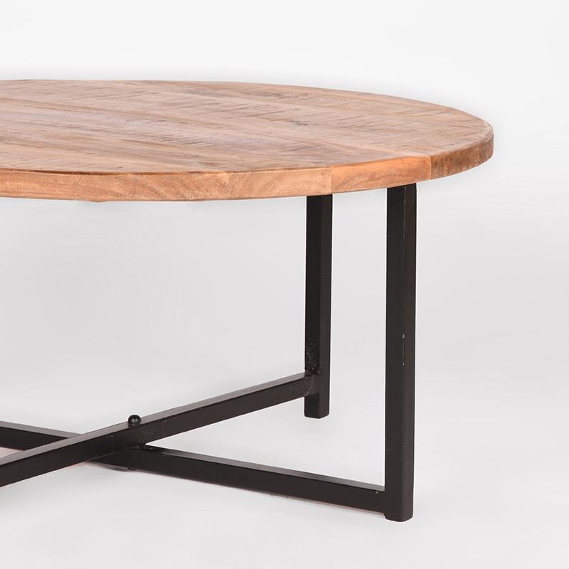 Salontafel Dex - Rough - Mangohout - Rond - 80 cm