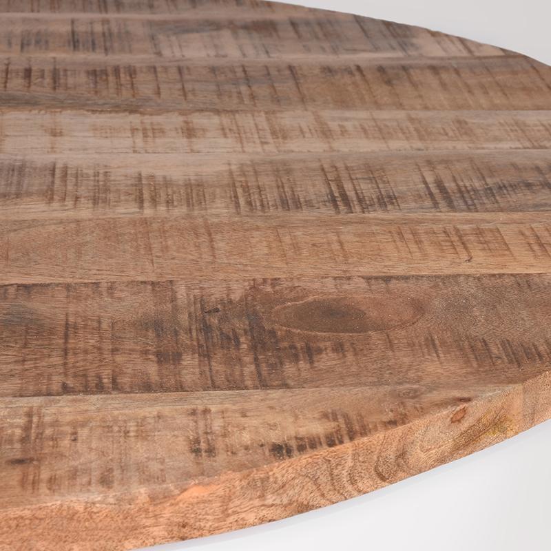 Salontafel Saria - Wit - Mangohout - Rond - 80 cm