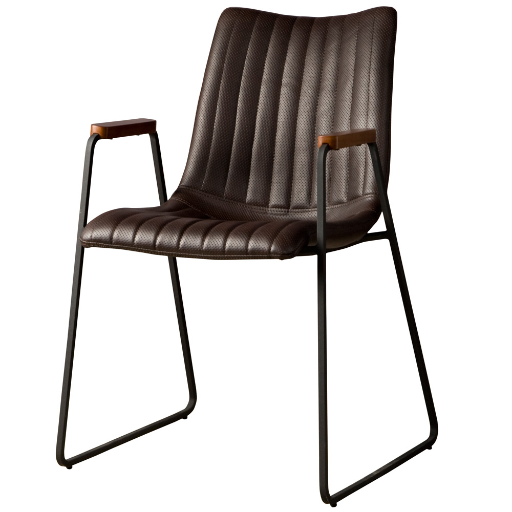 Salou armchair - PU dark brown