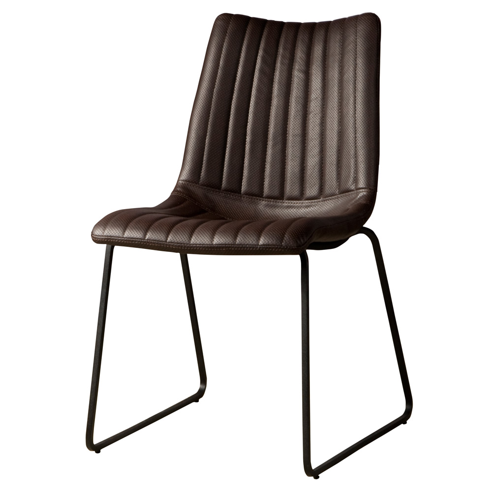 Salou sidechair - PU dark brown