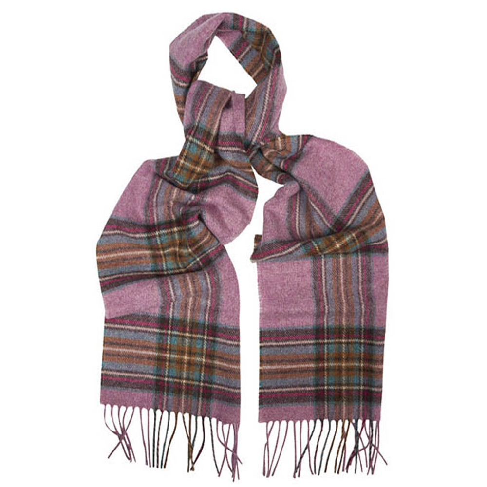 Scarf Country Check Pink