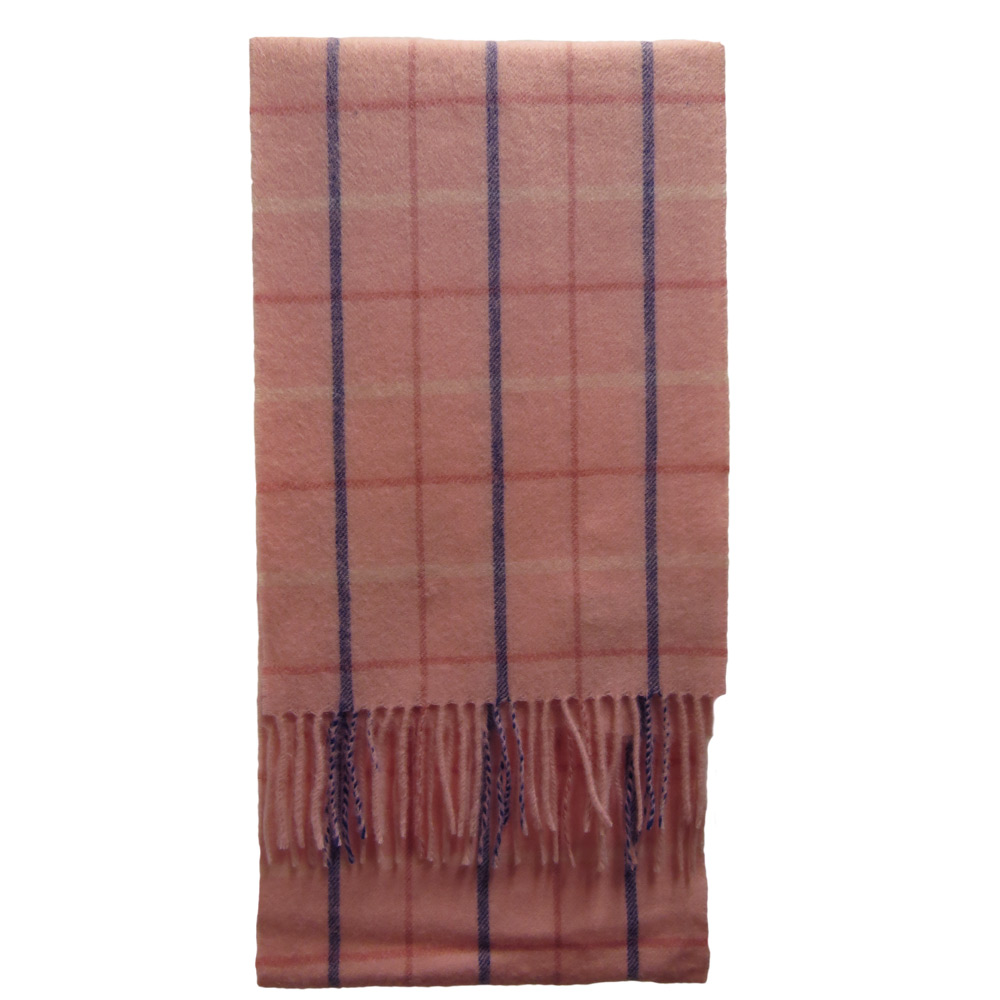 Scarf Country Tattersall Pink