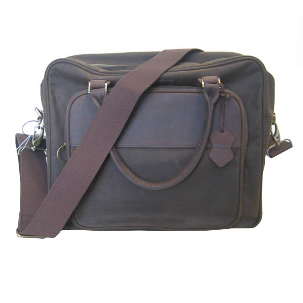 Schoudertas Wax Laptop Briefcase olive
