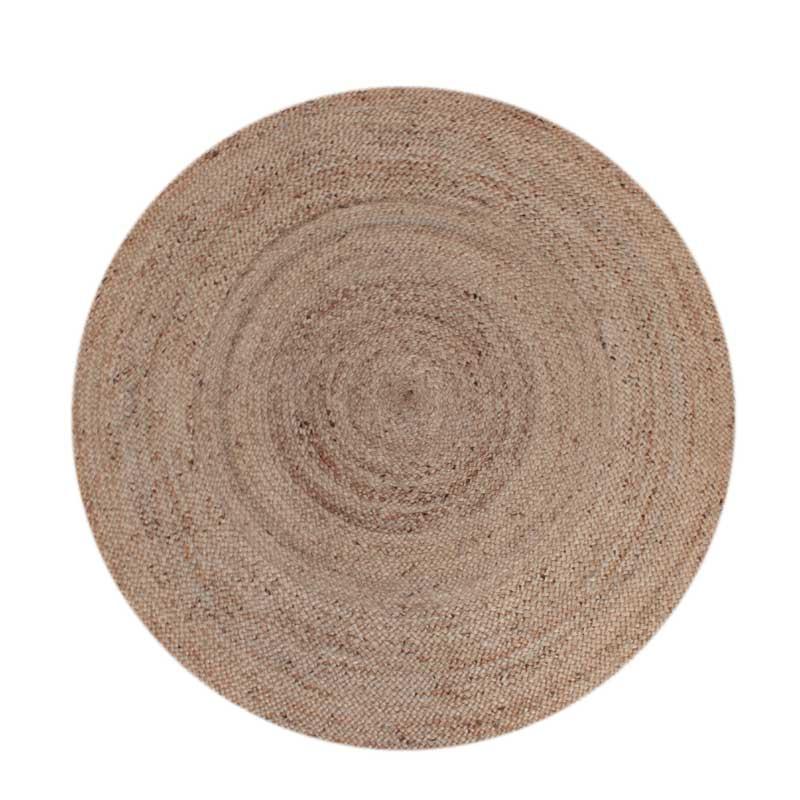 Vloerkleed Jute - Naturel - Jute - 180x180 cm