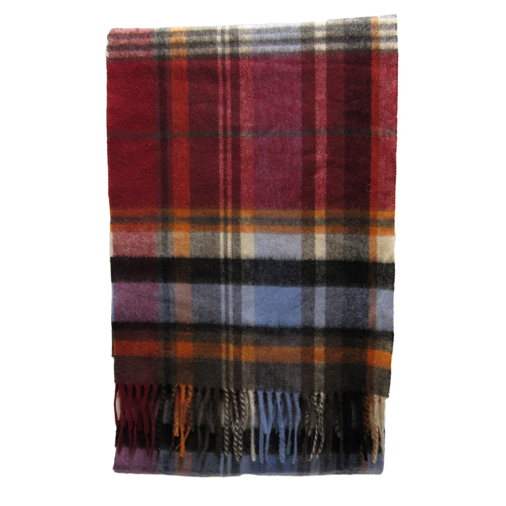 Sjaal Bright country plaid blue/red