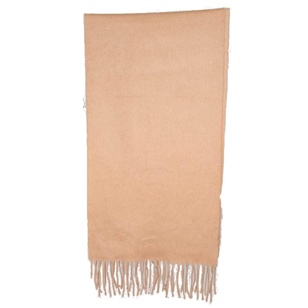 Sjaal Cashmere camel effen