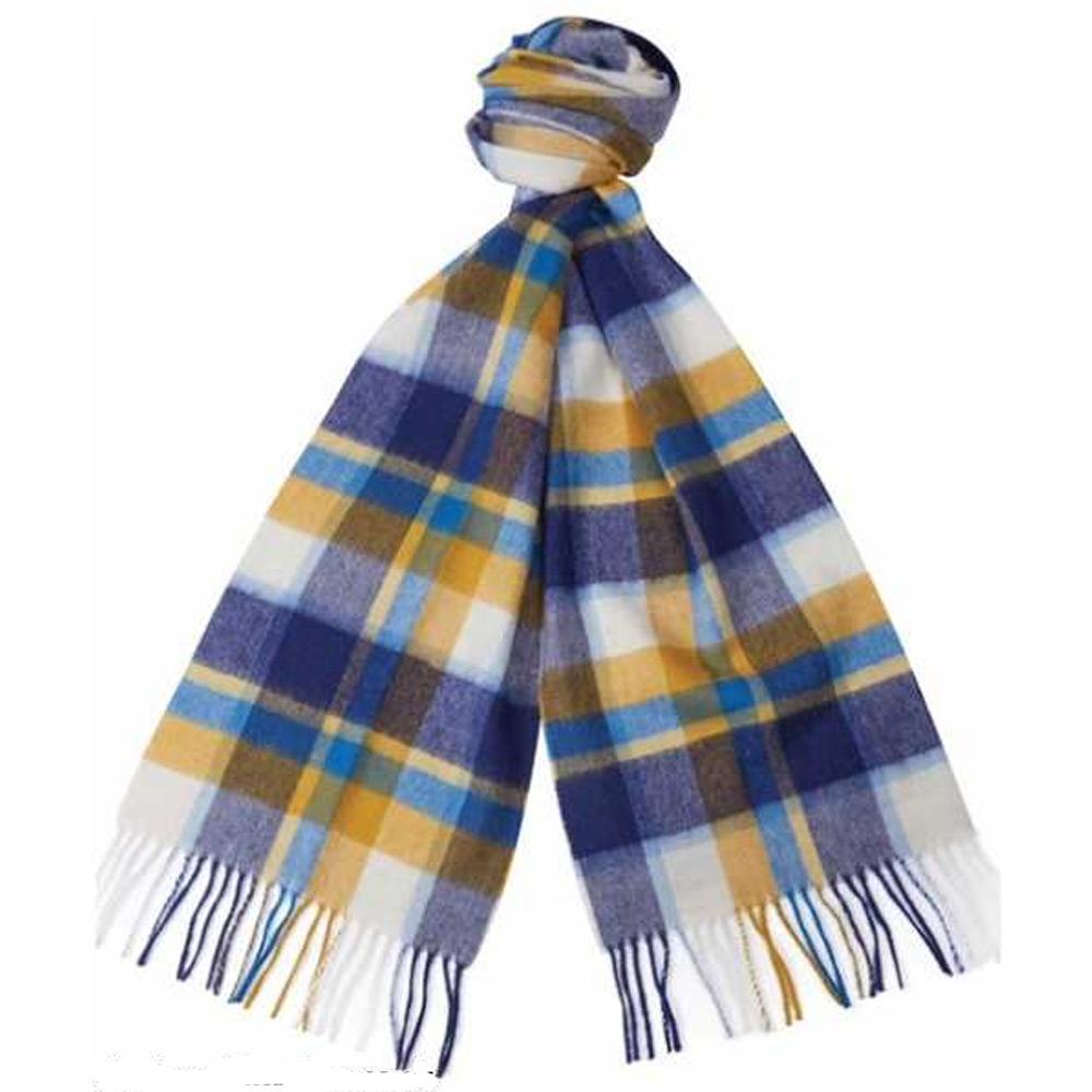 Sjaal Country Plaid blue gold
