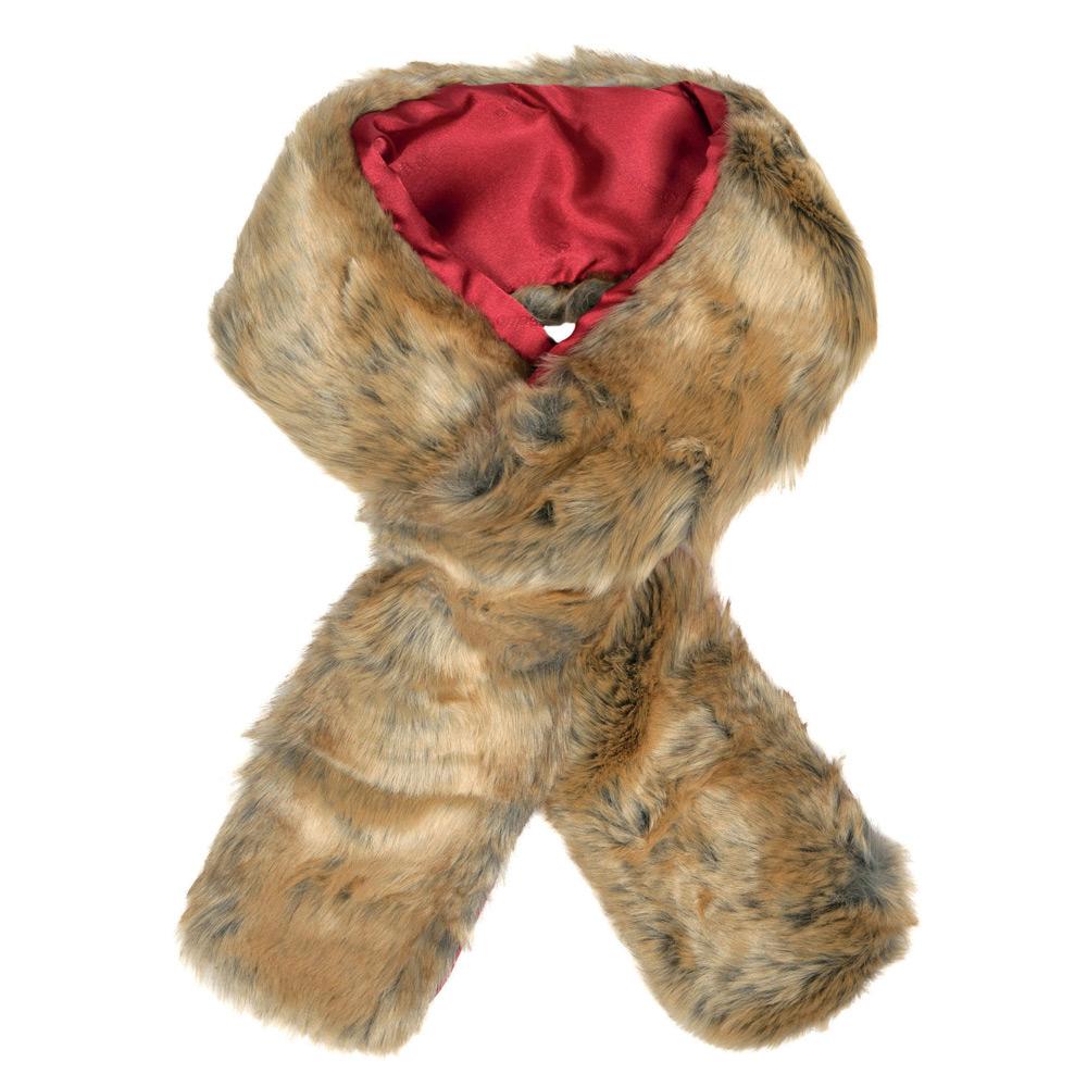 Sjaal imitatiebont chinchilla