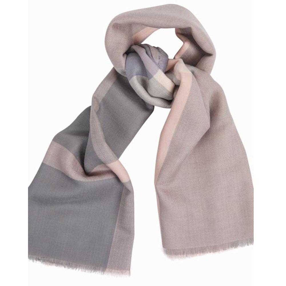Sjaal Tartan Square Roze Grijs