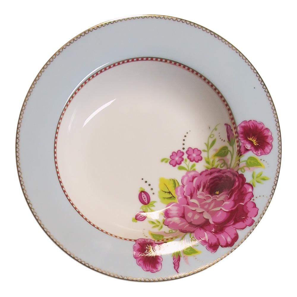 Soepbord Rose Blue egaal 21,5 cm