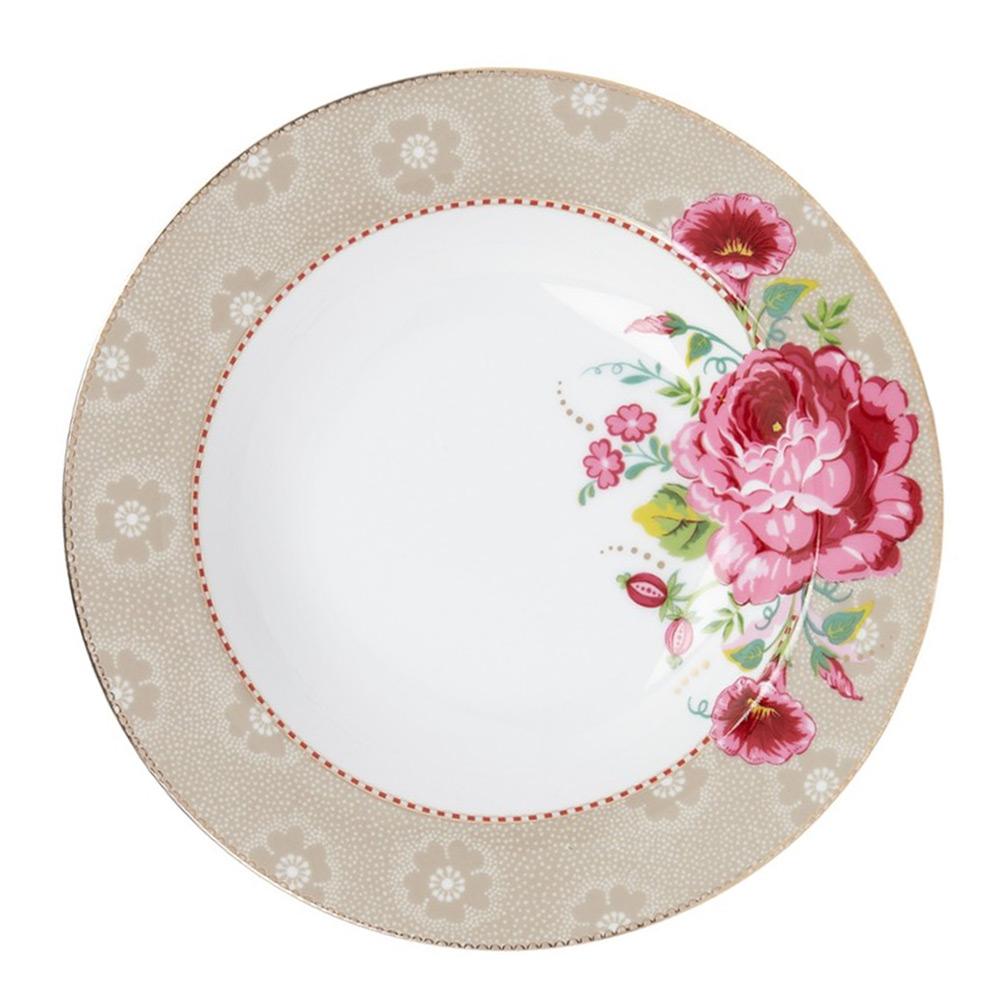 Soepbord Rose khaki 21,5 cm