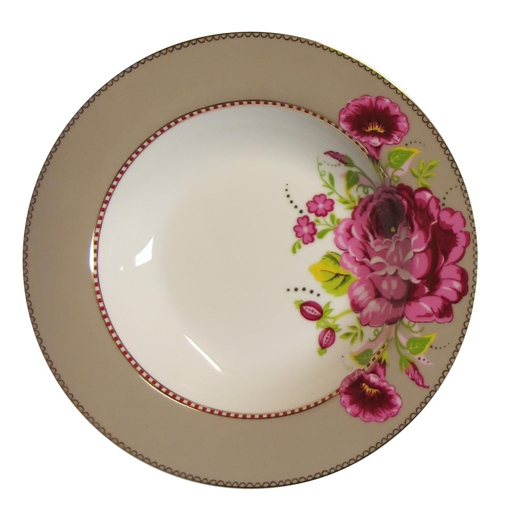 Soepbord Rose khaki egaal 21,5 cm
