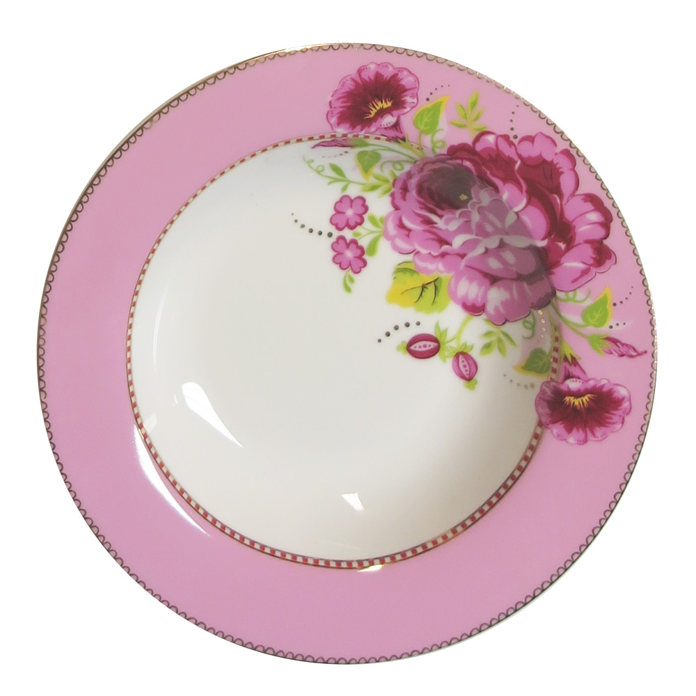 Soepbord Rose roze egaal 21,5 cm