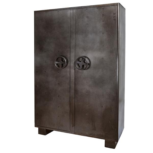 Stoere locker kabinetkast 2 deurs