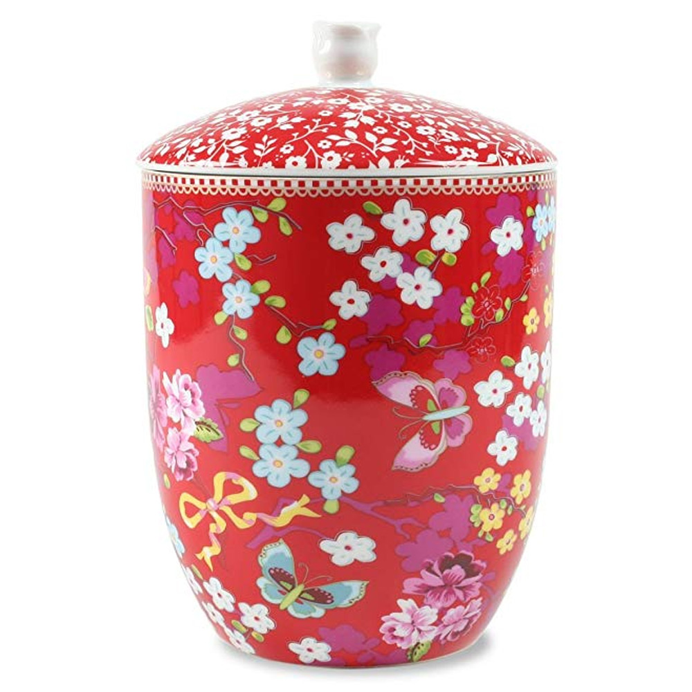 Storage Jar Chinese Rose