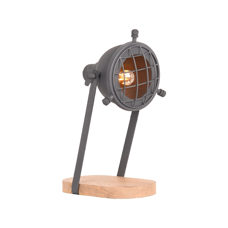 Tafellamp Grid - Grijs - Metaal
