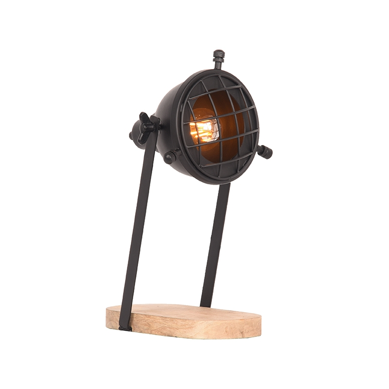Tafellamp Grid - Zwart - Metaal