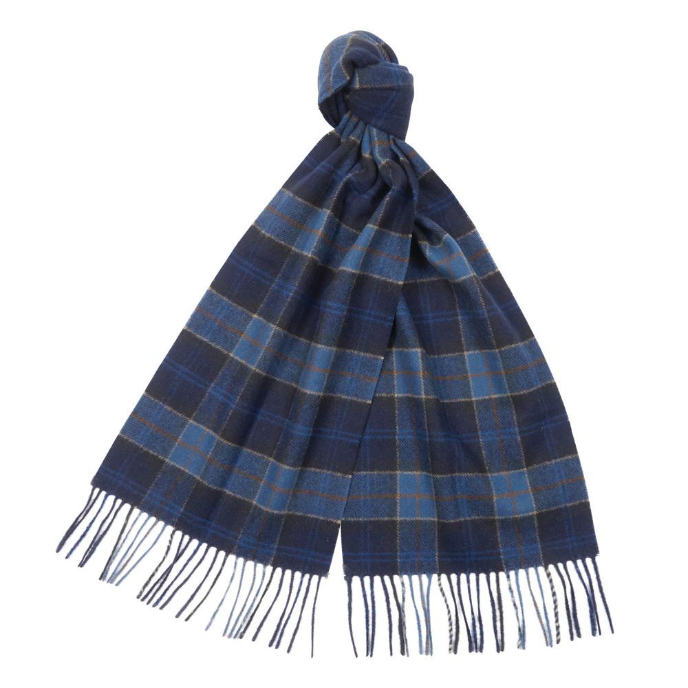 Tartan Lambswool scarf Midnight tartan
