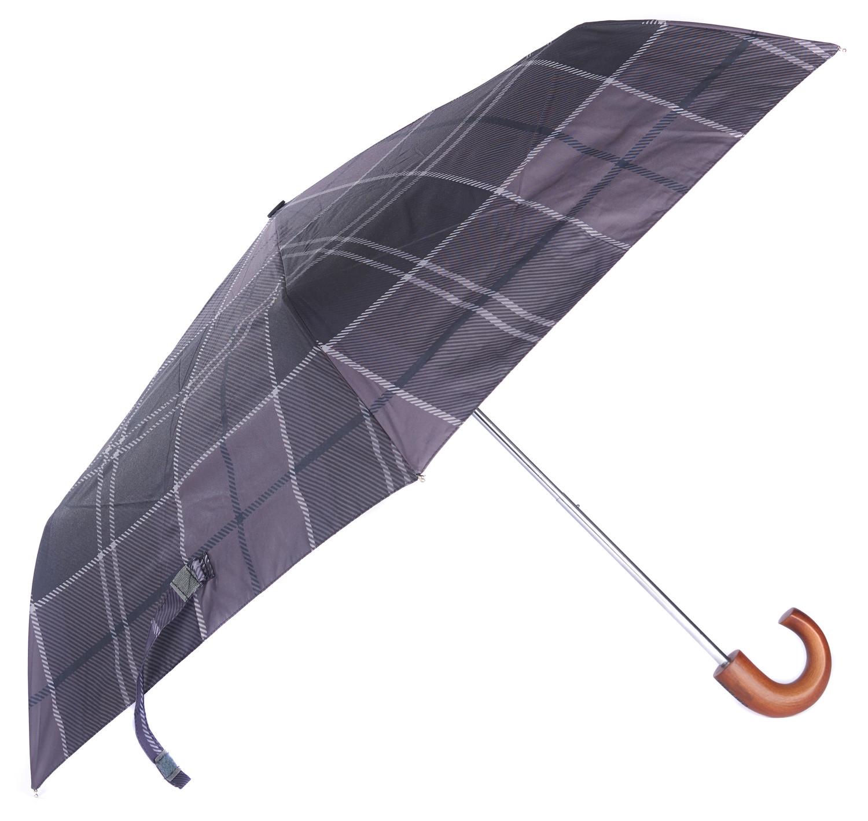Tartan mini paraplu black/grey
